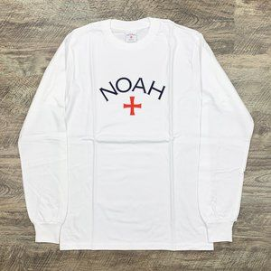 Noah NYC Core Logo White Long Sleeve Tee